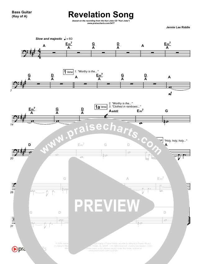 Revelation Song Bass Guitar (Kari Jobe)