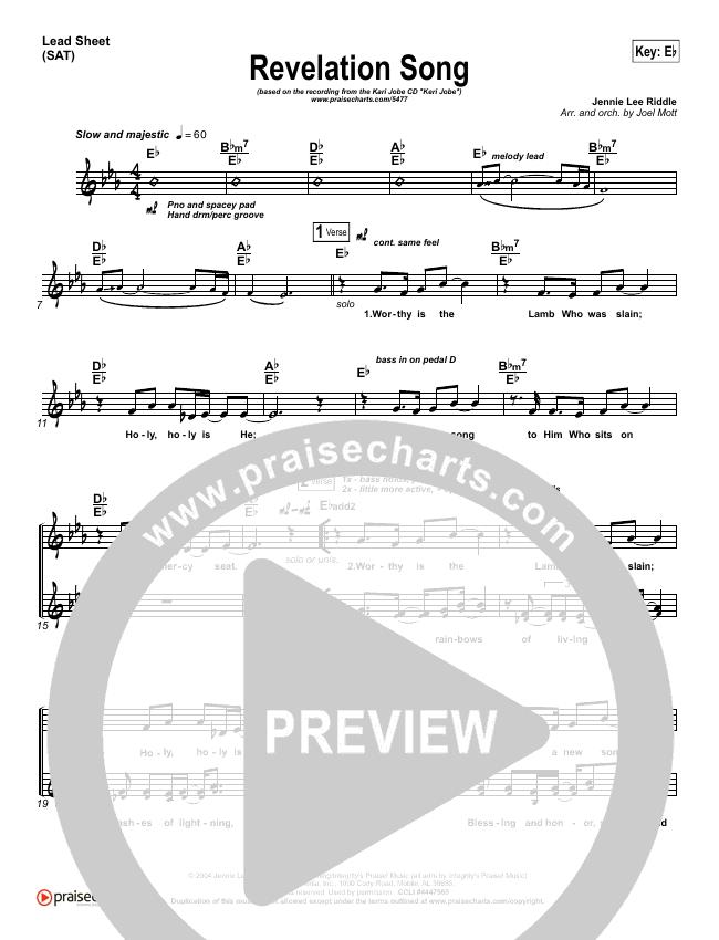 Revelation Song Piano/Vocal Pack (Kari Jobe)