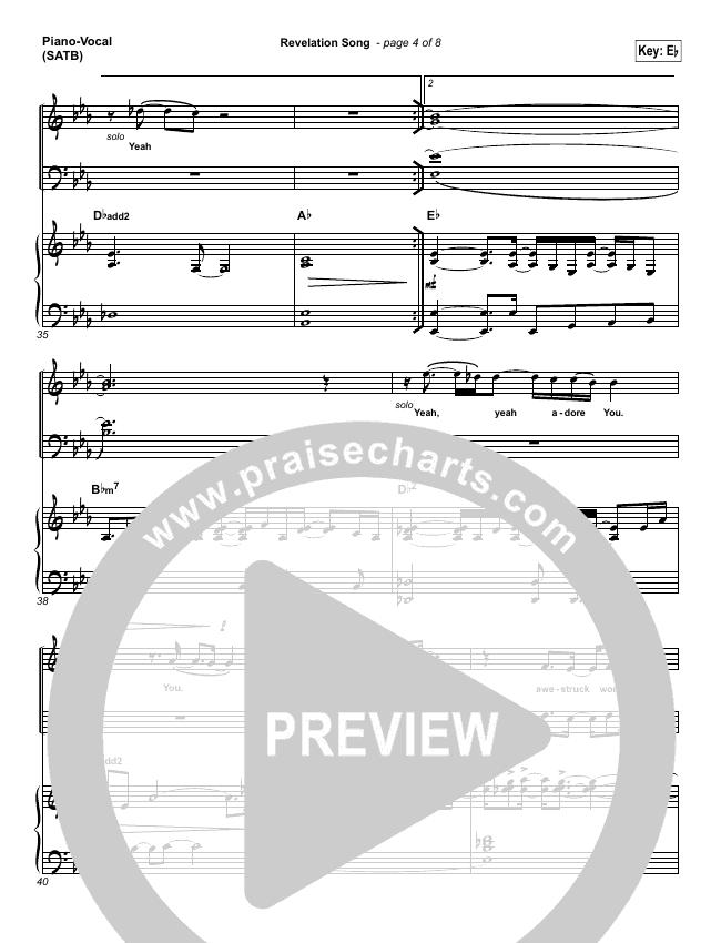 Revelation Song Lead Sheet Pianovocal Kari Jobe Praisecharts