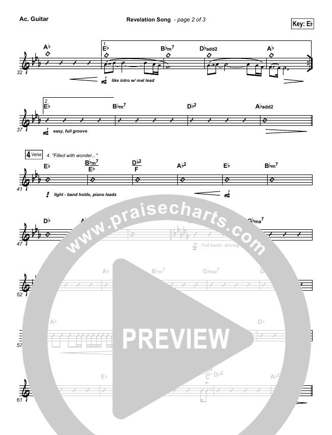 Revelation Song Rhythm Chart (Kari Jobe)