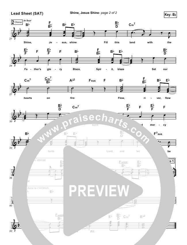 Shine Jesus Shine Lead Sheet - Graham Kendrick | PraiseCharts