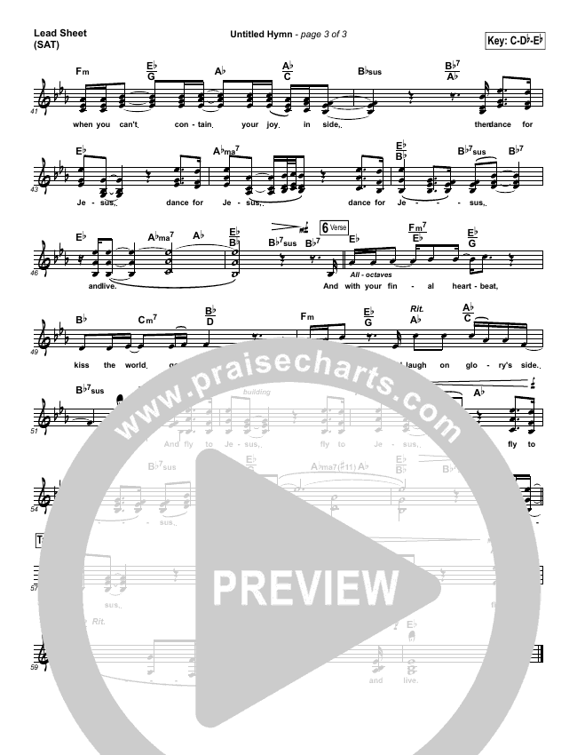 Untitled Hymn (Come To Jesus) Lead Sheet (SAT) (Chris Rice)