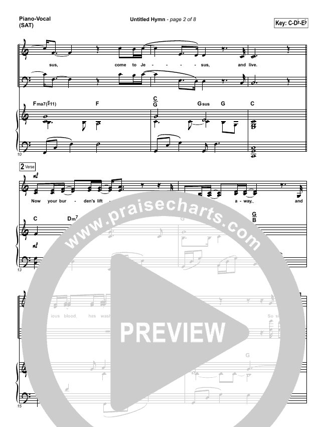 Untitled Hymn (Come To Jesus) Piano/Vocal (SATB) (Chris Rice)