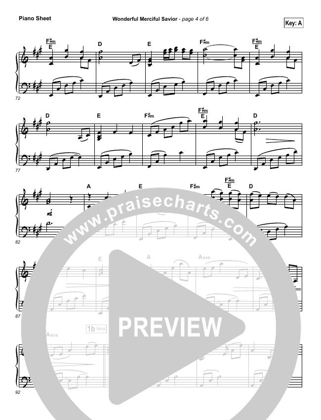 Wonderful Merciful Savior Orchestration Selah Praisecharts