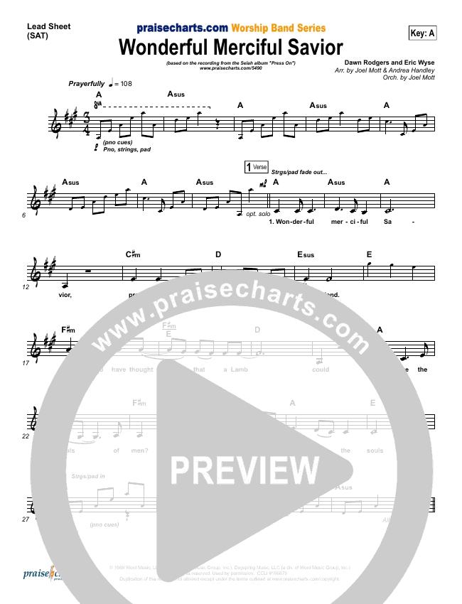 Wonderful Merciful Savior Piano/Vocal Pack (Selah)