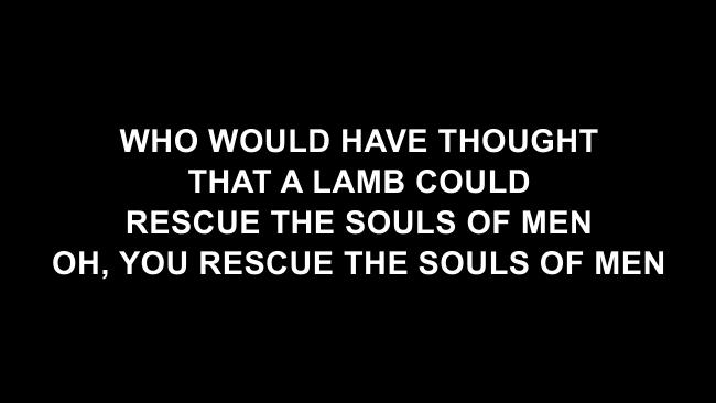 Wonderful Merciful Savior Lyric Slides (Selah)