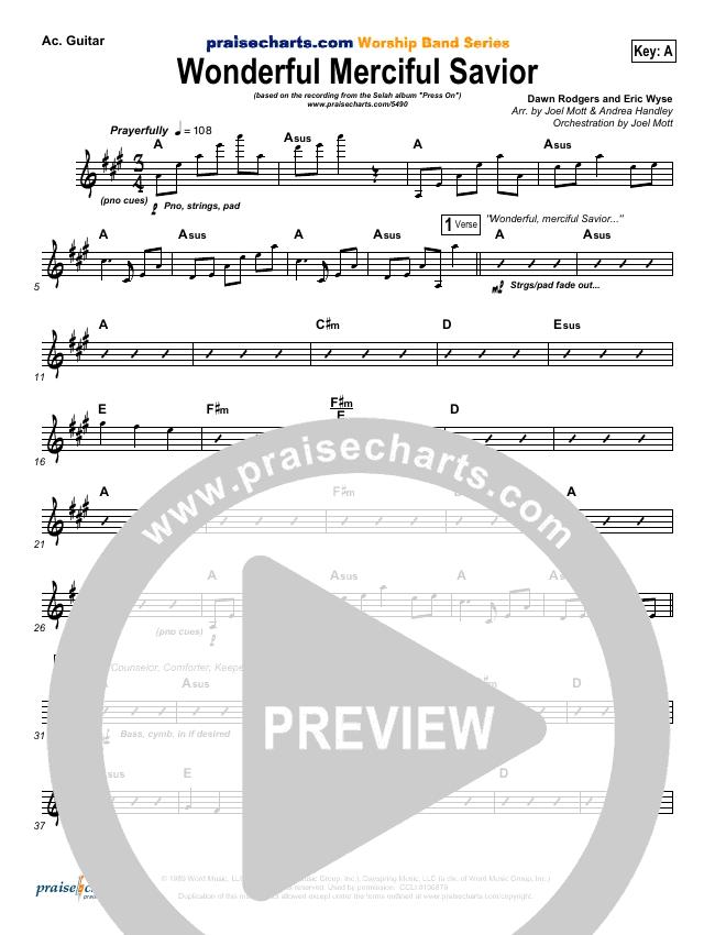 Wonderful Merciful Savior Rhythm Chart (Selah)