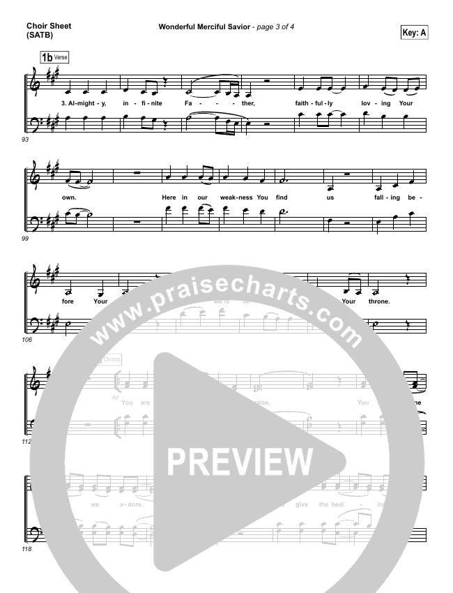 Wonderful Merciful Savior Choir Sheet (SATB) (Selah)