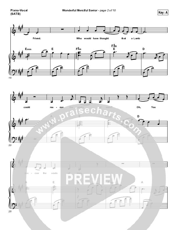 Wonderful Merciful Savior Piano/Vocal (SATB) (Selah)