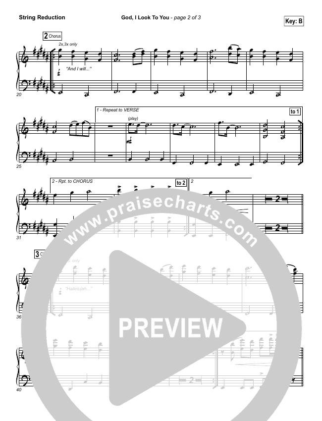 God I Look To You String Pack (Bethel Music / Francesca Battistelli)