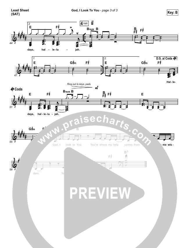 God I Look To You Lead Sheet (SAT) (Bethel Music / Francesca Battistelli)