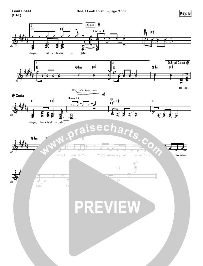 God I Look To You Lead & Piano/Vocal (Bethel Music / Francesca Battistelli)
