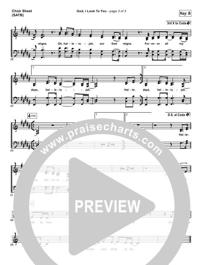 God I Look To You Choir Sheet (SATB) (Bethel Music / Francesca Battistelli)