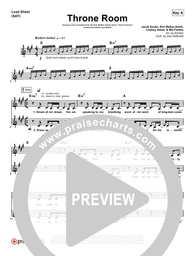Throne Room Lead & Piano/Vocal (Kim Walker-Smith)