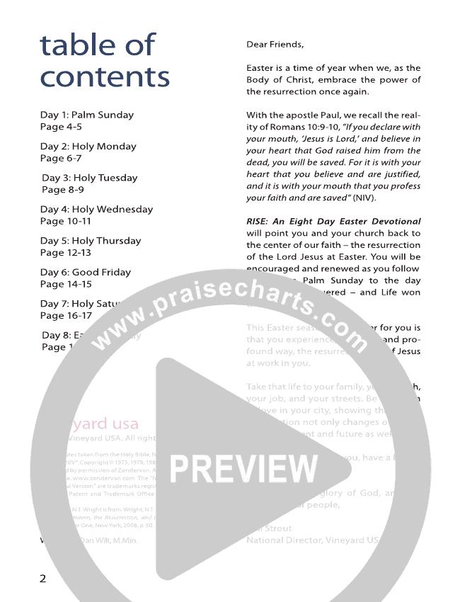 Rise: An Eight Day Easter Devotional eBook (Dan Wilt)