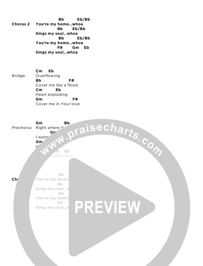 You're My Home Chord Chart (Josh Baldwin)