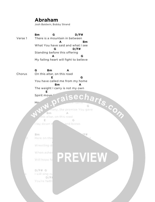 Abraham Chord Chart (Josh Baldwin)