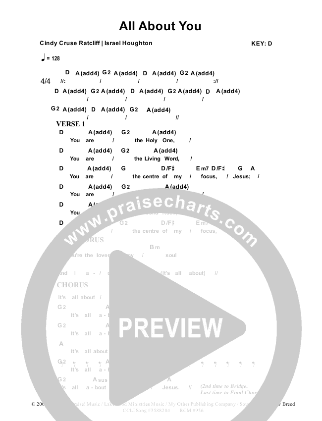 All About You Chord Chart (Dennis Prince / Nolene Prince)