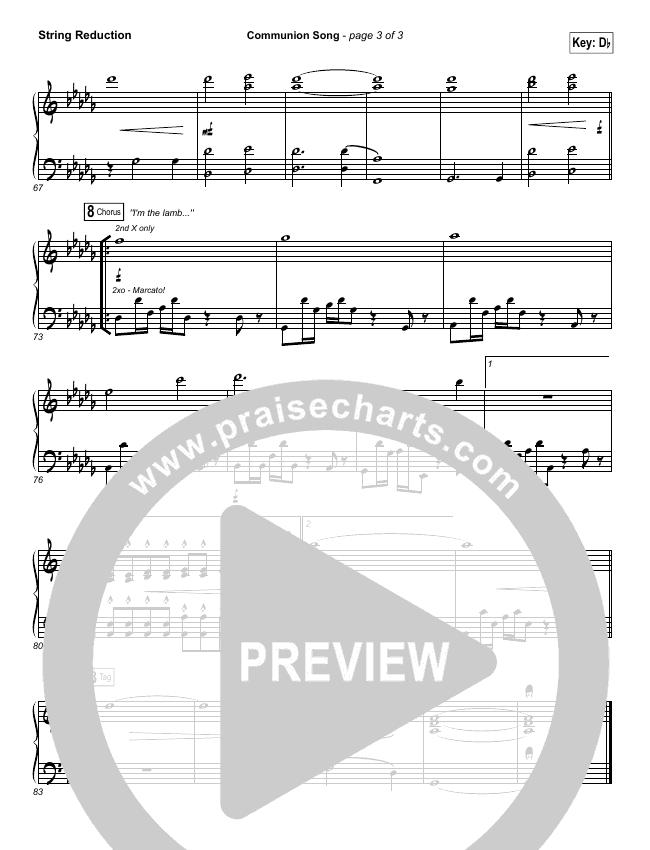 Communion Song String Pack (Jonathan Stockstill / Bethany Music / Nicole Binion / BJ Putnam)