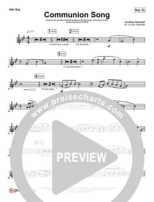Communion Song Wind Pack (Jonathan Stockstill / Bethany Music / Nicole Binion / BJ Putnam)