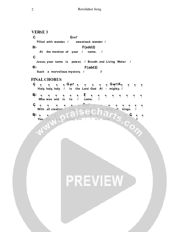 Revelation Song Chord Chart (Dennis Prince / Nolene Prince)