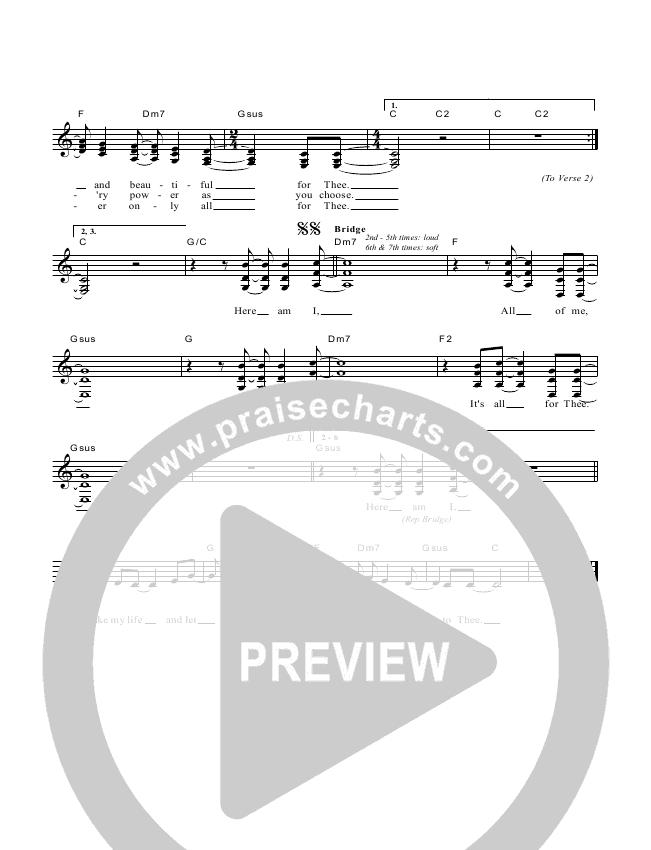 Take My Life Lead & Piano/Vocal (Dennis Prince / Nolene Prince)