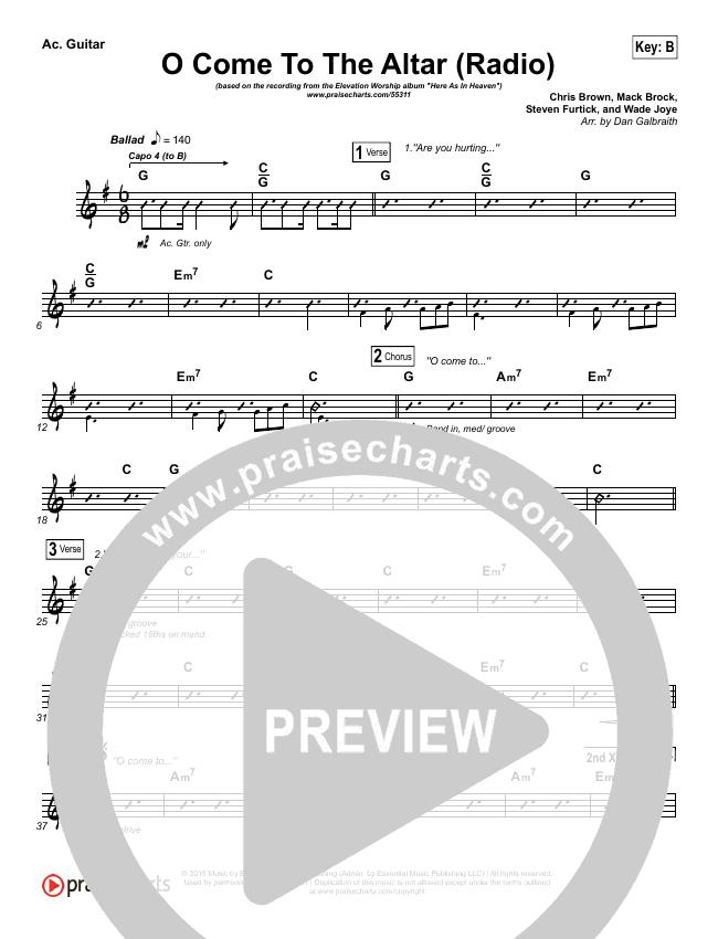 O Come To The Altar (Radio) Rhythm Chart (Elevation Worship)