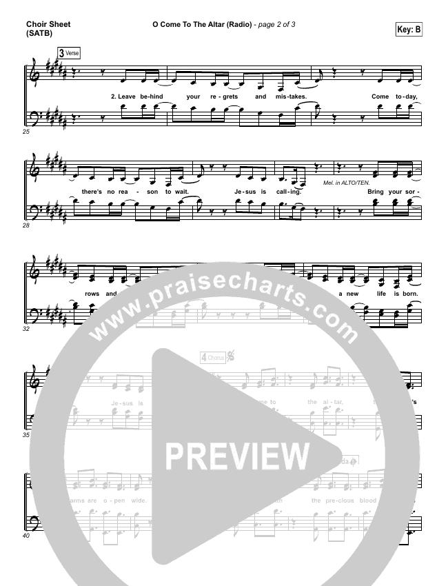 O Come To The Altar (Radio) Choir Sheet (SATB) (Elevation Worship)