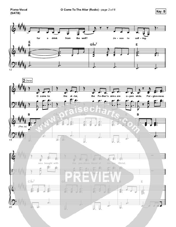 O Come To The Altar (Radio) Piano/Vocal (SATB) (Elevation Worship)