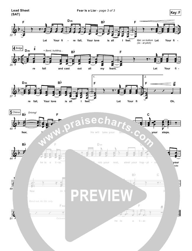 Fear Is A Liar Lead & Piano/Vocal (Zach Williams)