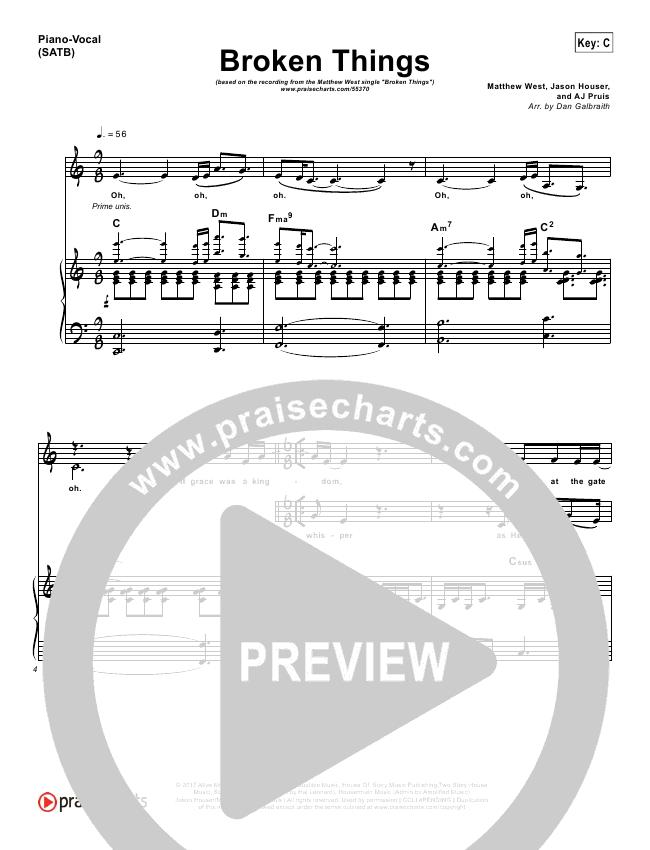 Broken Things Orchestration & Finale (Matthew West)