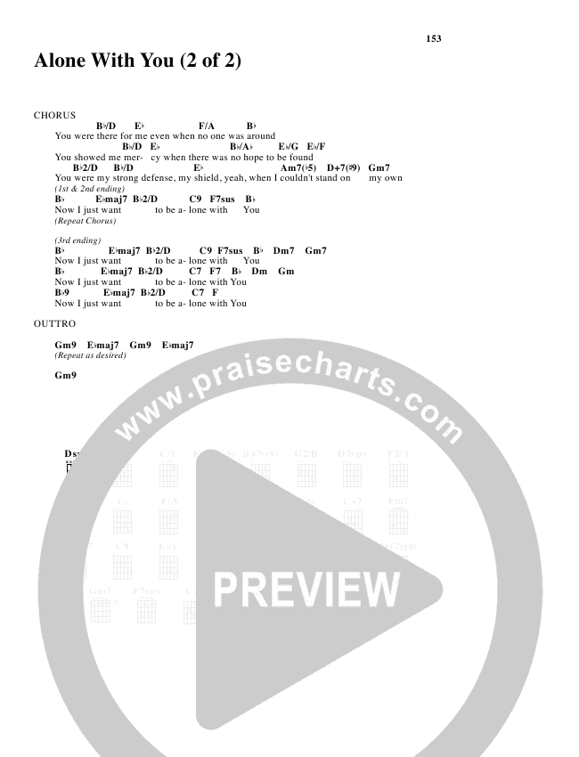 Alone With You Chords Freddy Rodriguez Praisecharts