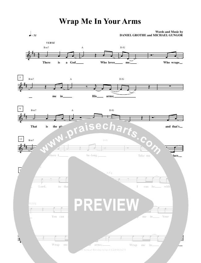 Wrap Me In Your Arms Lead Sheet Pianovocal Freddy Rodriguez