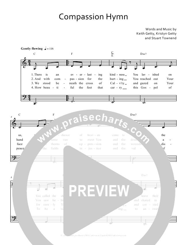 Compassion Hymn Lead Sheet (Keith & Kristyn Getty)