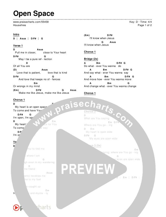 Open Space Chords & Lyrics (Housefires)
