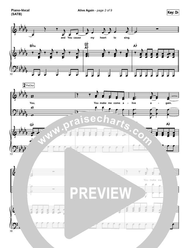 Alive Again Piano/Vocal (SATB) (Planetshakers)