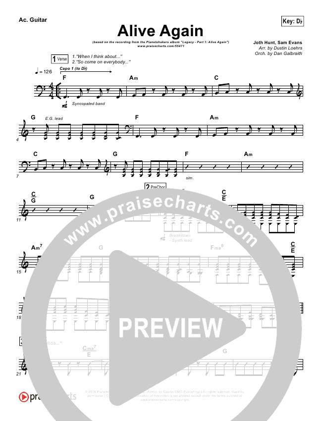 Alive Again Rhythm Chart (Planetshakers)