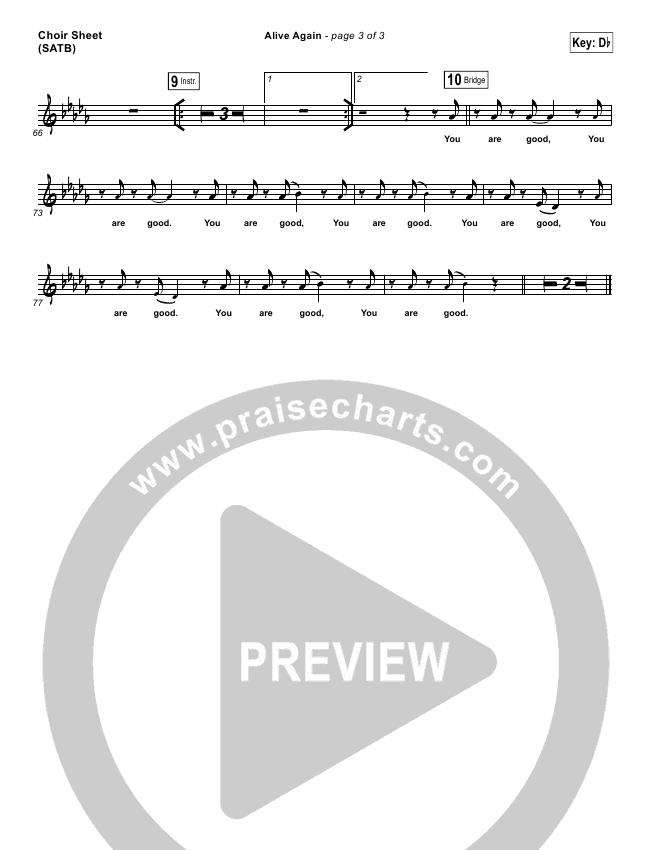 Alive Again Choir Sheet (SATB) (Planetshakers)