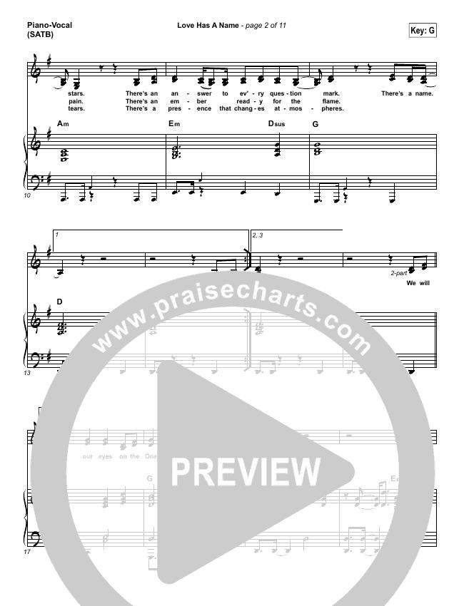 Love Has A Name Piano/Vocal (SATB) (Jesus Culture / Kim Walker-Smith)