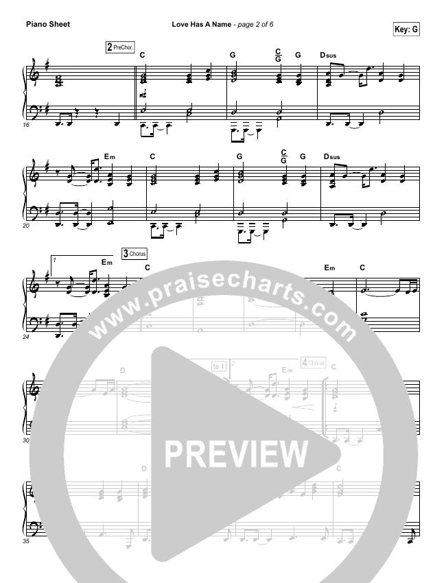Love Has A Name Piano Sheet (Jesus Culture / Kim Walker-Smith)