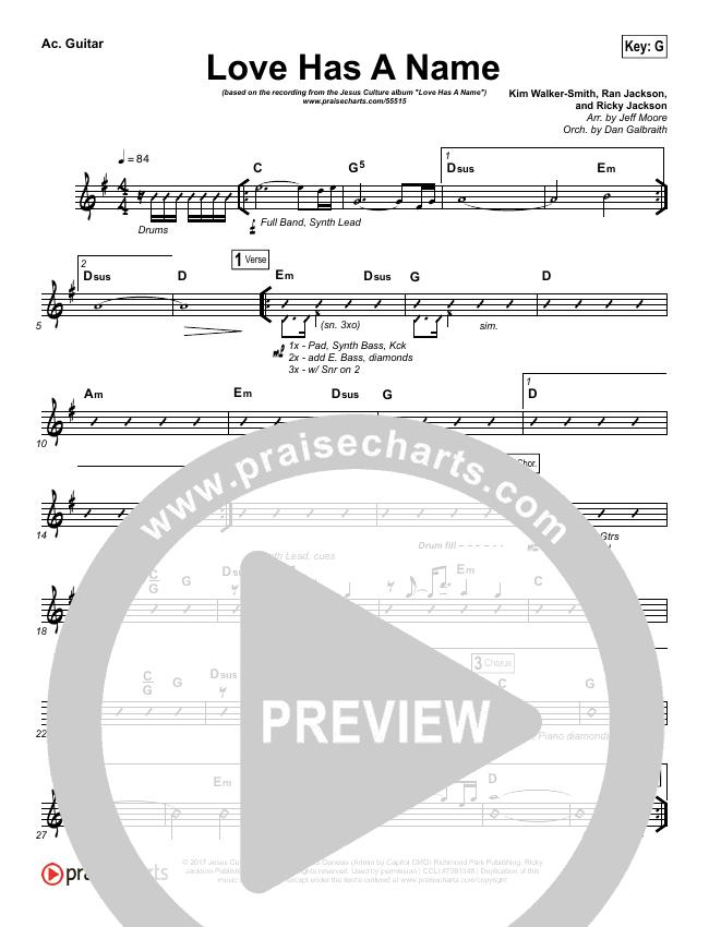 Love Has A Name Rhythm Chart (Jesus Culture / Kim Walker-Smith)
