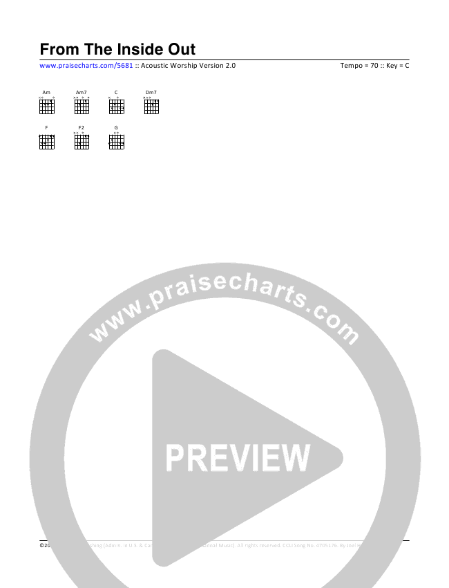 From The Inside Out Chord Chart (Toby Baxley)