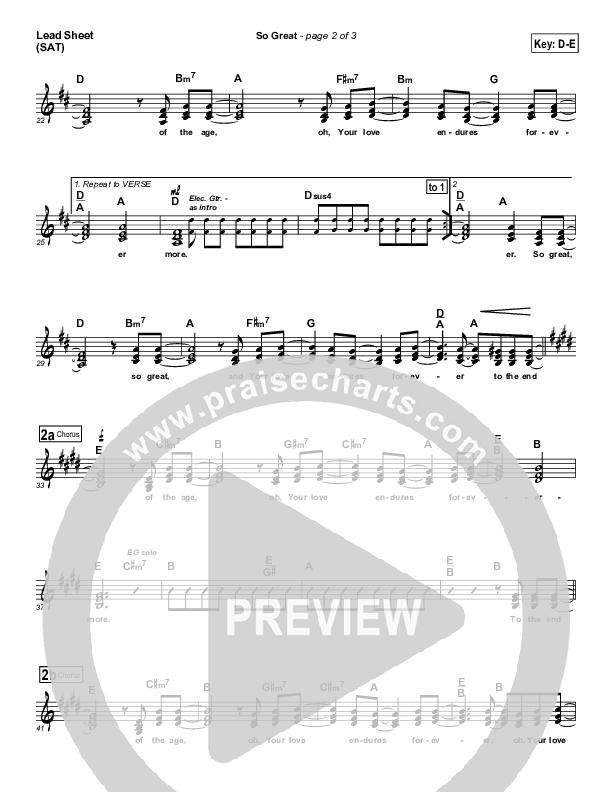 So Great Lead & Piano ()