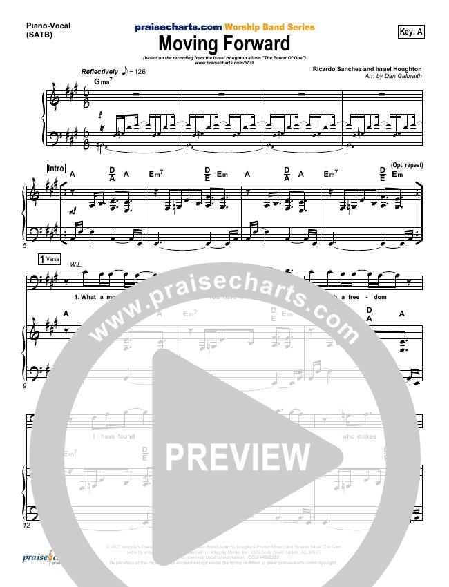Moving Forward Piano/Vocal (SATB) (Israel Houghton)