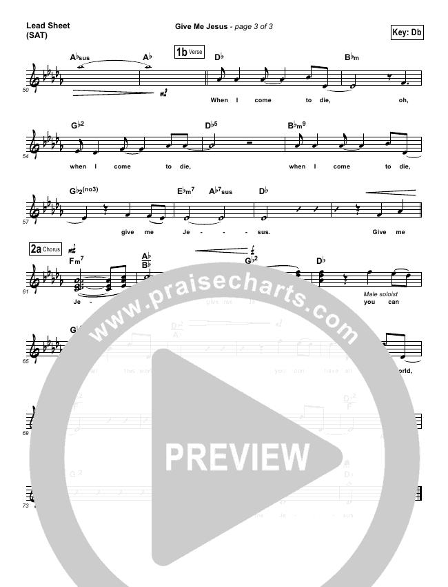 Give Me Jesus Lead (SAT) (Maranatha Singers)