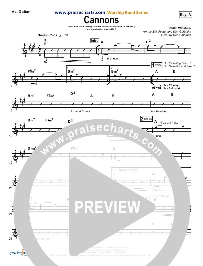 Cannons Rhythm Chart - Phil Wickham   PraiseCharts