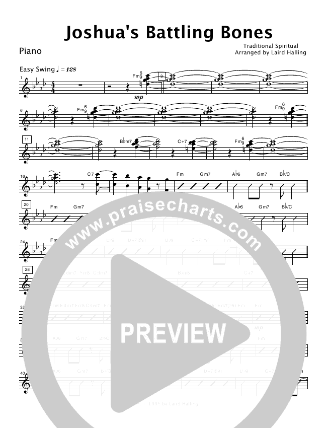 Joshua's Battling Bones (Instrumental) Orchestration (Crosswinds Big Band)