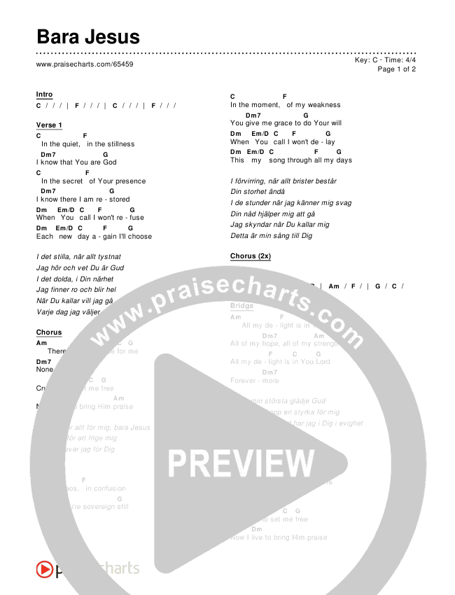 Bara Jesus Chords & Lyrics ()
