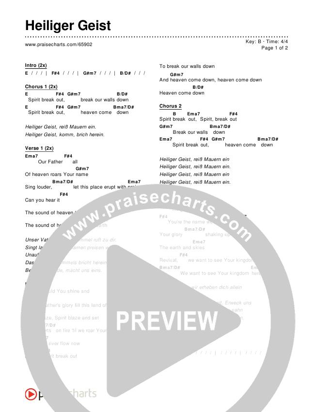 Heiliger Geist Chords & Lyrics ()