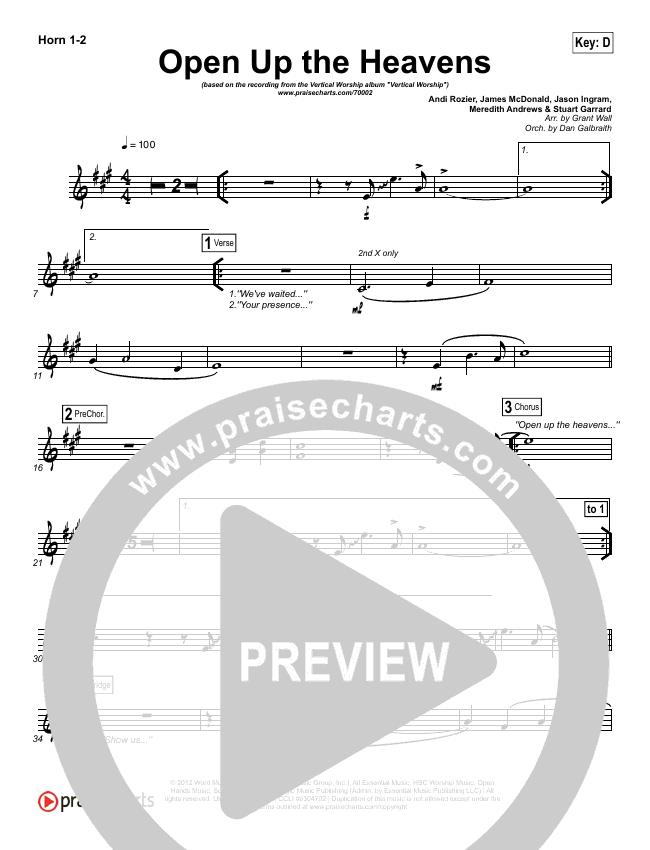 Open Up The Heavens Brass Pack (Vertical Worship)